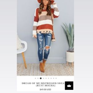 Dream of me distressed sweater